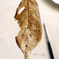 Autumn leaf - watercolour